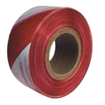 Barrier Tape 75mm x 500mtr Red / White