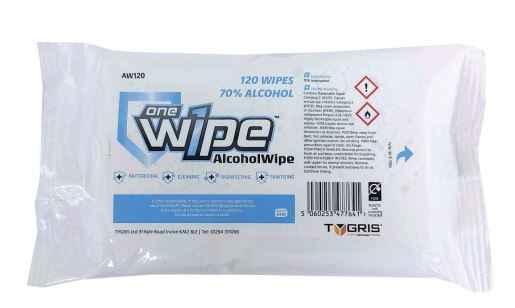 Alcohol (70%) Surface Disinfectant Sanitising Wipes