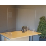 Freestanding Acrylic Screen 1200mm W x 800 H NO OPENING