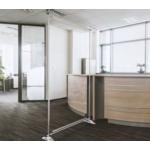 Floor standing PVC screen 2000mm H x 1200mm W