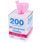 Red Antibac 220x370mm Cloth Roll Pk200