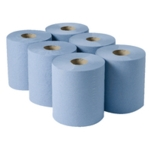 Centre Feed Paper Rolls 2ply Blue 150mtr