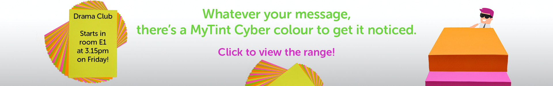 MyTint Cyber colours - bright shades for being noticed