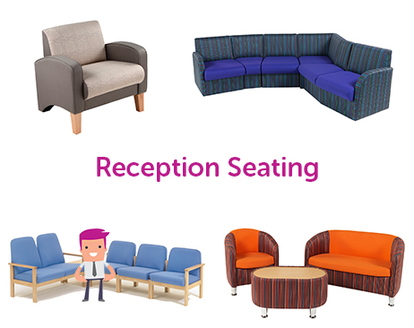 A wide choice of seating for reception areas