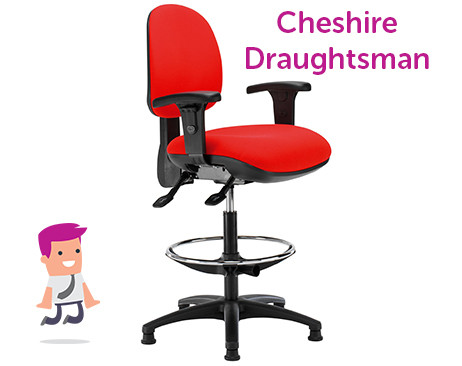 Cheshire Draughtsman chair available in a choice of colours