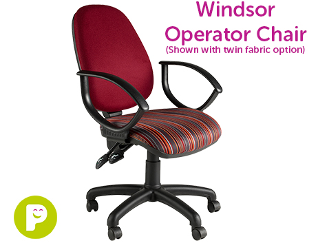 Windsor Operator Chair, available in a range of fabrics