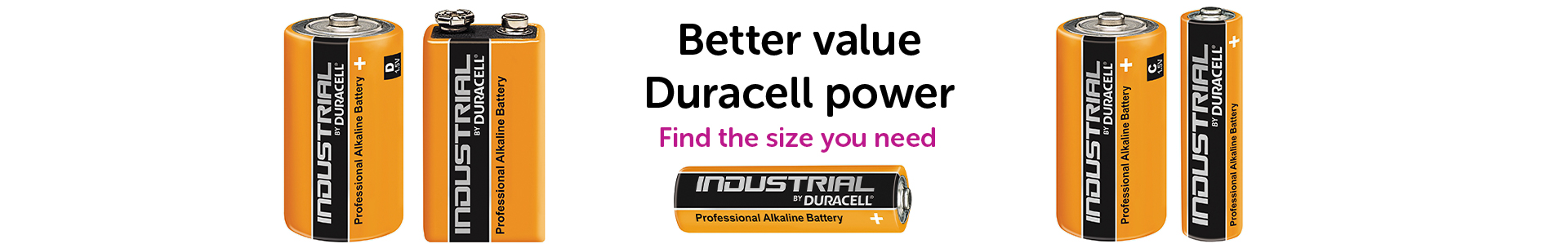 Industrial batteries by Duracell
