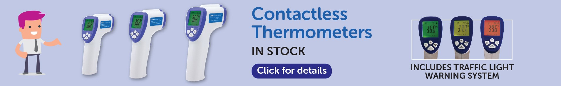 Contactless thermometers in stock