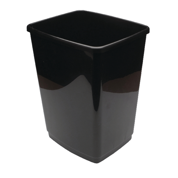 2Work Swing Bin Base Only 50 Litre Plastic Black 2W02381