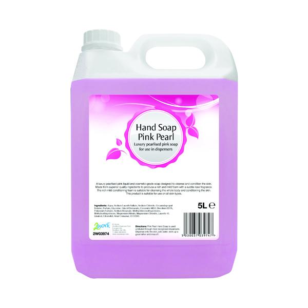 2Work Pink Pearlised Foam Hand Soap 5 Litre Bulk Bottle 402