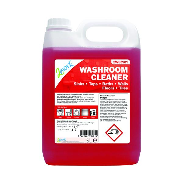 2Work Washroom Cleaner 5 Litre 898