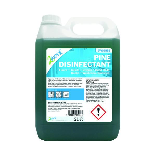 2Work Pine Disinfectant 5 Litre Bottle 204