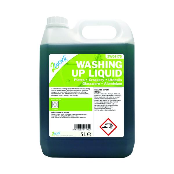 2Work Washing Up Liquid 5 Litre 432
