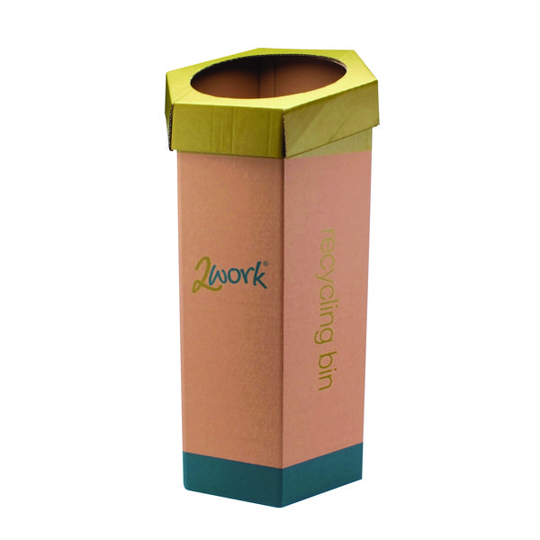 2Work Green Recycling Bin (Pack of 3) CAP582758/A
