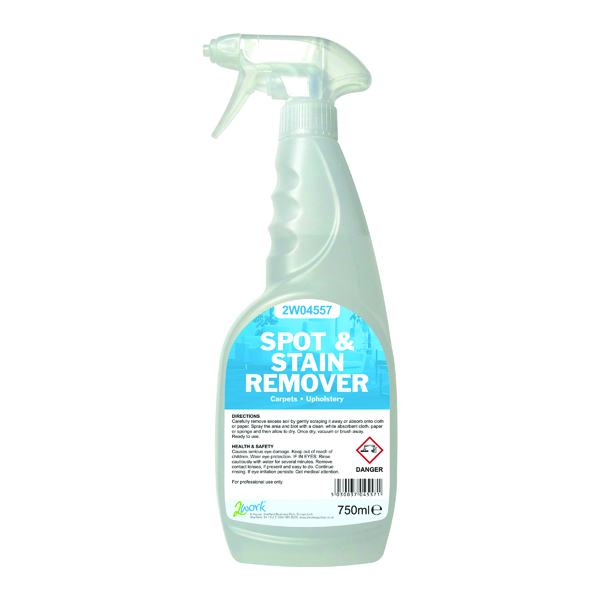 2Work Carpet Spot and Stain Remover Trigger Spray 750ml 2W04557