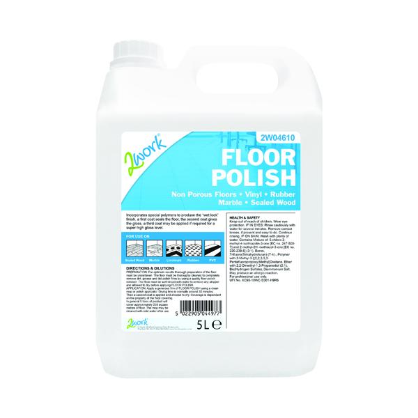2Work Floor Polish 5 Litre 109