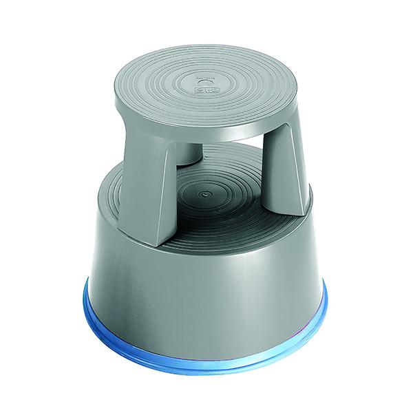 2Work Plastic Step Stool Light Grey T7/Lgrey