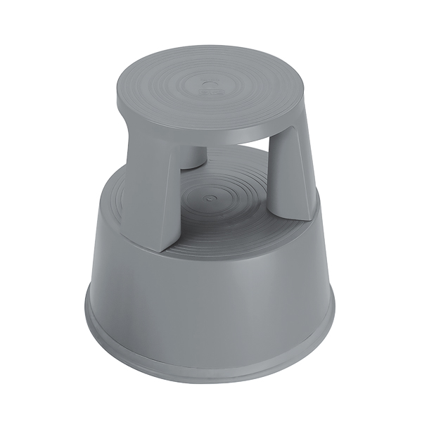 2Work Plastic Step Stool Dark Grey T7/Dgrey
