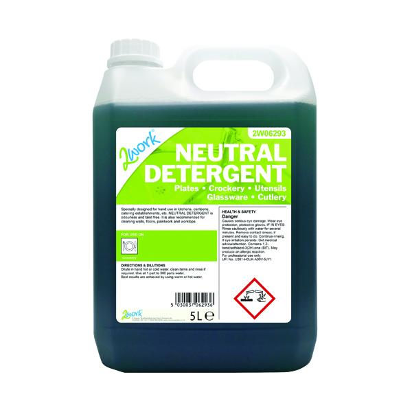 2Work Dishwasher Neutral Detergent 5 Litre 432