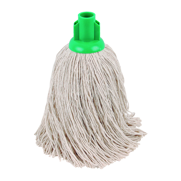 2Work Twine Rough Socket Mop 14oz Green (Pack of 10) 101855G