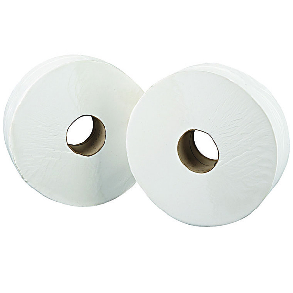 2Work 2-Ply Jumbo Toilet Roll 76mm Core (Pack of 6) J27400VW