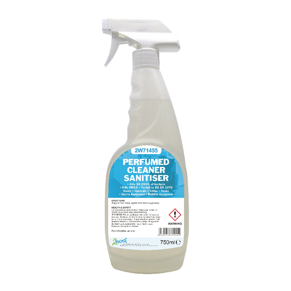 2Work Perfumed Spray Wipe Sanitiser 750ml 211