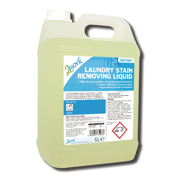 2Work Laundry Stain Removing Liquid 5 Litre Bulk Bottle 2W75997