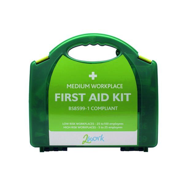 2Work BSI Compliant First Aid Kit Medium for 25 to 100 People 2W99438