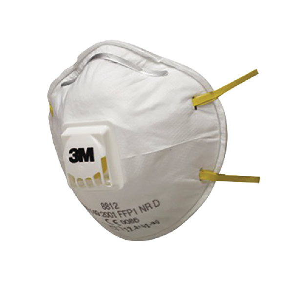 3M Cup Shaped Valved Respirator FFP1 8812 (Pack of 3) XA004838034