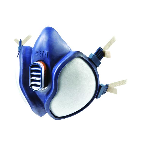 3M Respirator Half Mask Blue (Conforms to EN405:2001+A1:2009) 4251