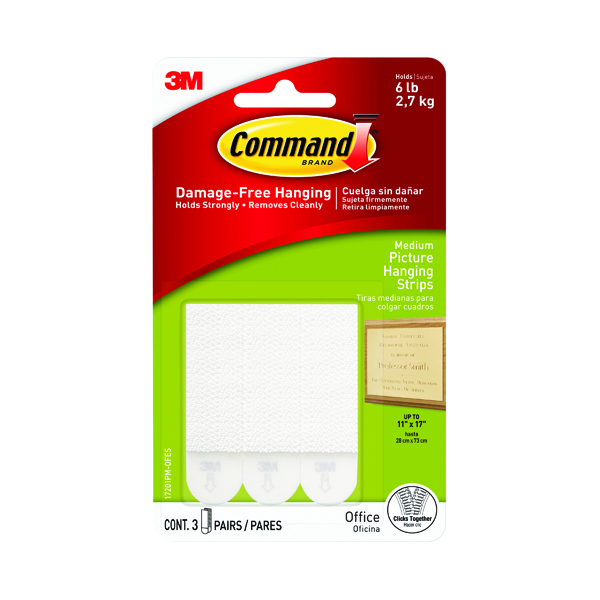 3M Command Picture Hanging Strips Medium (Pack of 4) 17201-4PK