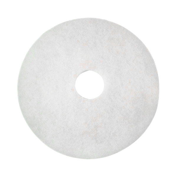 3M Polishing Floor Pad 380mm White (Pack of 5) 2NDWH15