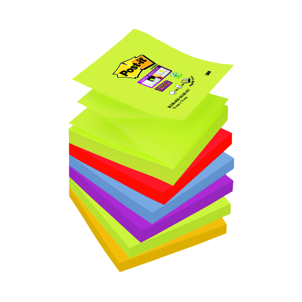 Post-it Super Sticky Z-Notes 76 x 76mm Marrakesh (Pack of 6) R330-6SS-MAR-EU