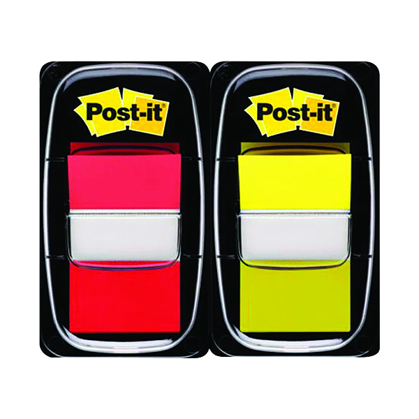 Post-it Index Tabs Red and Yellow (Pack of 100) 680-RY2