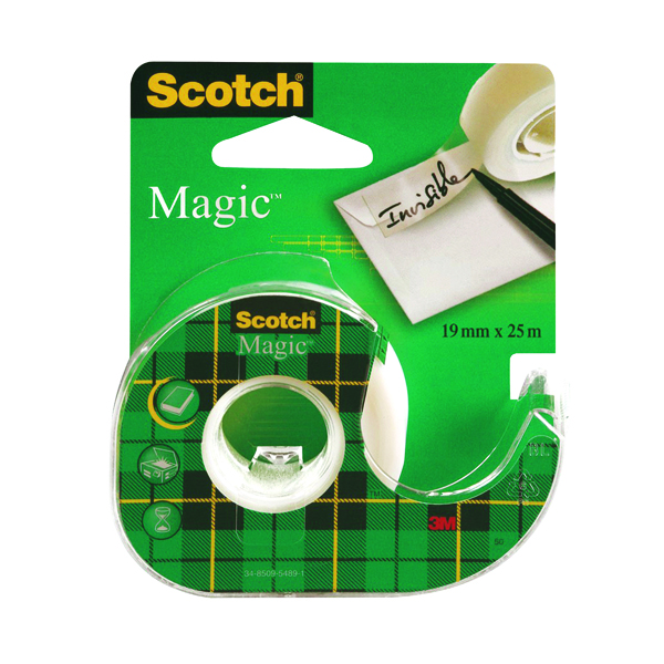 Scotch Magic Tape 810 19mm x 25m with Dispenser (Pack of 12) 8-1925D