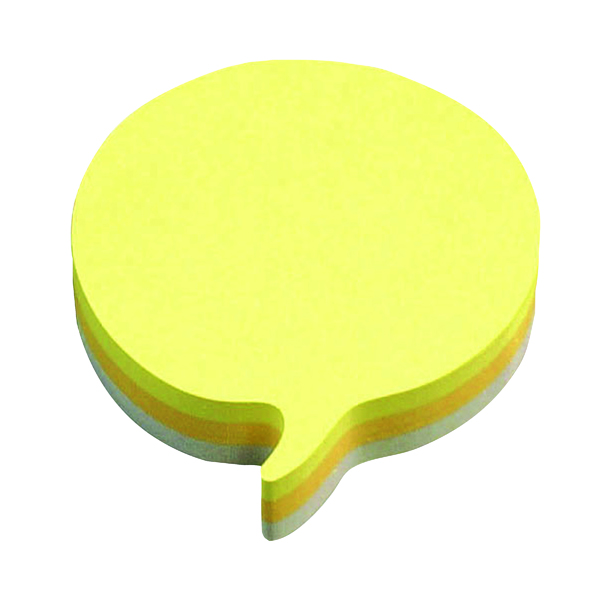 Post-it Notes Speech Bubble 70 x 70mm Rainbow (Pack of 12) 3M37917