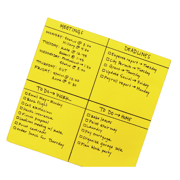 Post-it Super Sticky Yellow Big Notes 558 x 558mm (Pack of 30) BN22-EU