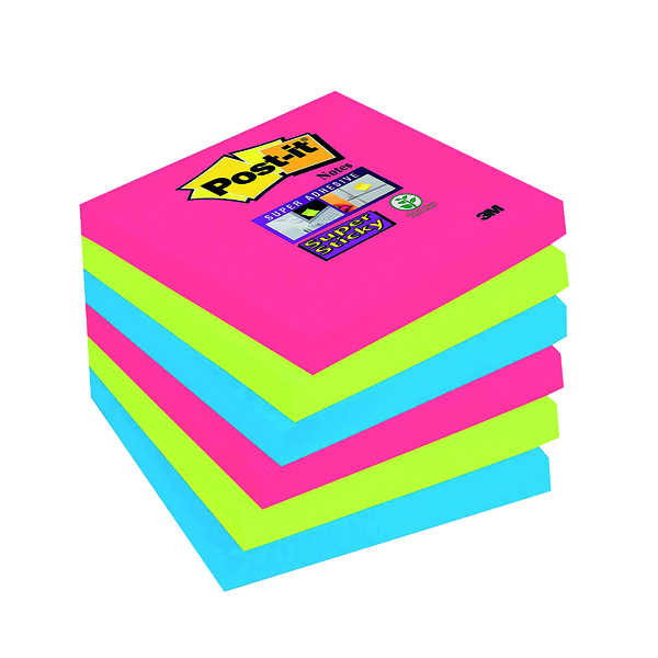 Post-it Super Sticky Notes 76x76mm Bora Bora (Pack of 6) 654-6SS-JP