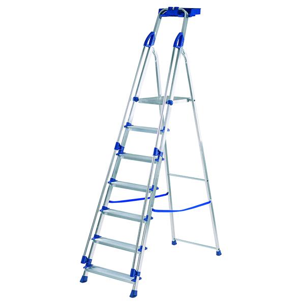 Werner Blue Seal 7 Tread Professional Aluminium Step Ladder 7050718