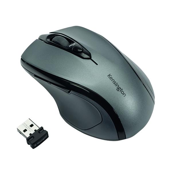 Kensington Pro Fit Mid-Size USB Wireless Mouse Grey K72423WW