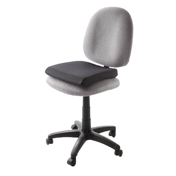 Kensington Memory Foam Seat Rest Leather Effect Black 82024