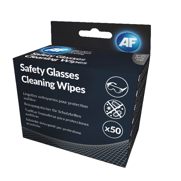 AF Safety Glasses Cleaning Wipes (Pack of 50) SGCS050