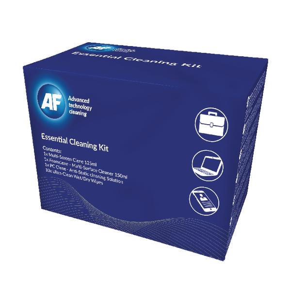 AF Essential Cleaning Kit (Multi Screen Clene, PC Clene Wipes, Foam Clene, Ultraclene Wipes) AECK001