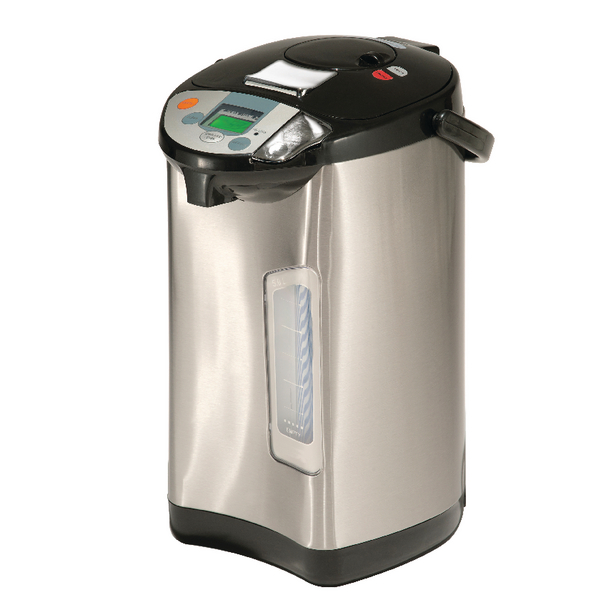 Addis 5L Thermo Pot Stainless Steel/Black (3 way dispensing: manual, cup and auto) 516522