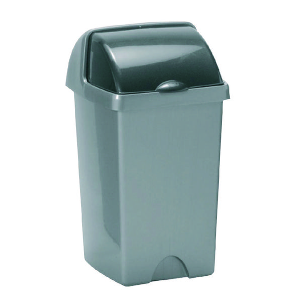 Addis Roll Top Bin 25 Litre Metallic AG813416