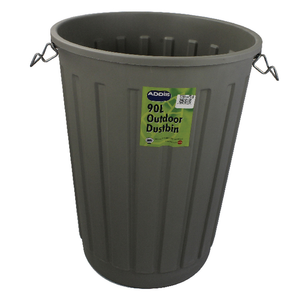 Addis Dustbin Base Round 90 Litre Grey B766Grey