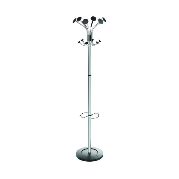 Alba Chromy Coat Stand Chrome/Black PMCLASS