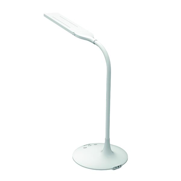Alba Nomad Two Head Desk Lamp White LEDTWIN BC