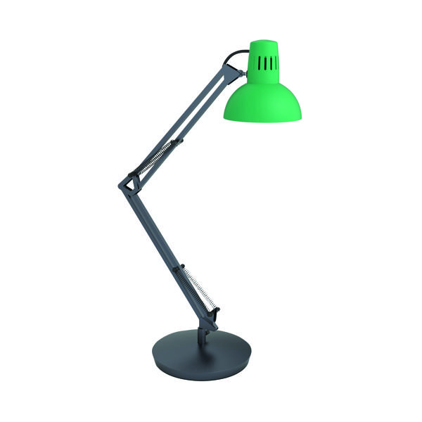 Alba Architect LED Desk Lamp Green (Flexible at base, arm and head) ARCHICOLOR V1