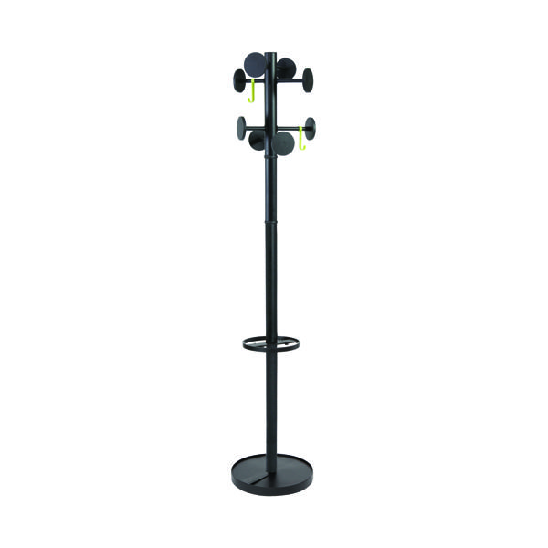 Alba Stan Coat Stand Black (Total height: 1750mm) PMSTAN3N